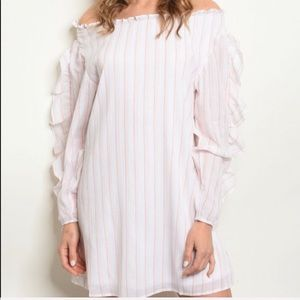Dresses & Skirts - White Pink Stripes Tunic Dress